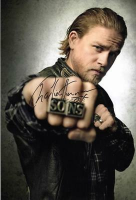 """Charlie Hunnam """"Sons of Anarchy"""" Genuine Autographed 12x8inch photograph"""