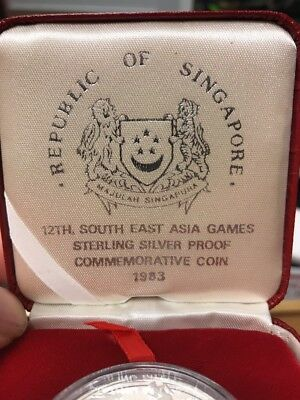 Singapore 12th South East Asia Games 1983 5 Dollars Coin