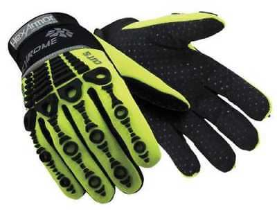 HexArmor Elite Chrome Series 4026 Cut 5 Impact Hi-Vis Mechanic/Work Gloves