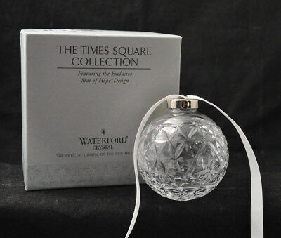 Waterford Crystal Times Square Star Of Hope Ornament 2000 In Box