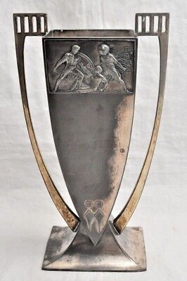 Antique Art Deco Loving Cup Trophy Silverplate Signed WMFB