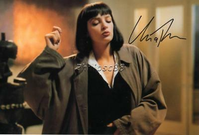 Uma Thurman Genuine Autographed 12x8inch photograph