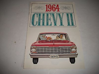 Original 1964 Chevy Ii Nova 100 Sales Brochure Canadian Issue