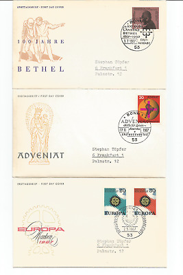 Germany 6 First day covers