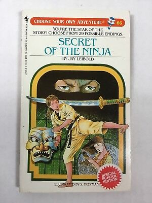 Choose Your Own Adventure Book 66 Secret Of The Ninja Special School Edition
