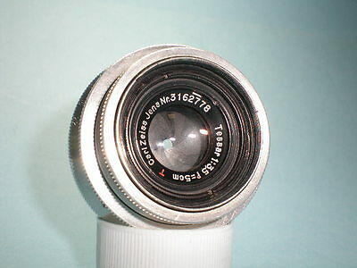 Rare Vintage Carl Zeiss Jena Tessar red T 3.5/50  40,5 mm theaded