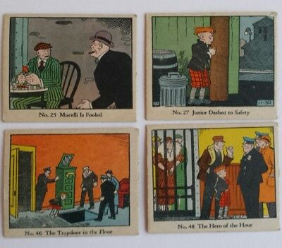 Detective Comics Dick Tracy Lot of 4 Vintage Cards 1930s Caramels Candy Issue