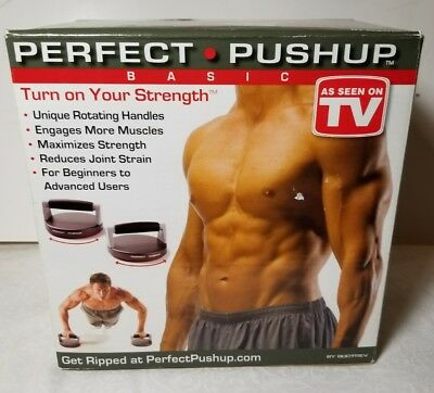 Perfect Pushup Basic Gym Bodybuilding Weight Exercise Workout Muscle Fitness New