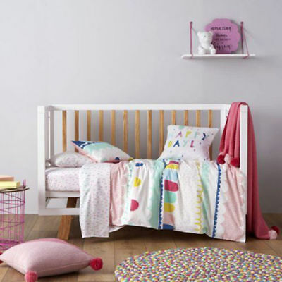 Adairs Kids Cot Quilt Cover Set Nursery Baby Girls Brand New RRP $99.95