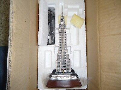Danbury Mint Lighted Chrysler Building RARE!