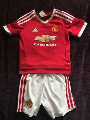 Official 2015/2016 Manchester United FC Junior Boys Home Football Kit 5-6