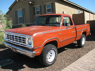 1976 Dodge Power Wagon 4x4 shortbed 1976 dodge power wagon 360 fuel injection NEW A/C SYSTEM 134 ICE COLD!