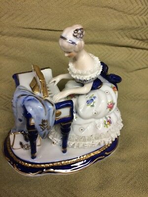 Limoges Style Lady With Piano