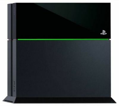 stickers autocollant vert LED ps4