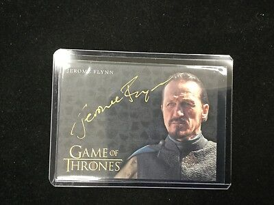 Jerome Flynn As Bronn 2017 Game Of Thrones Valyrian Steel Gold Auto 4