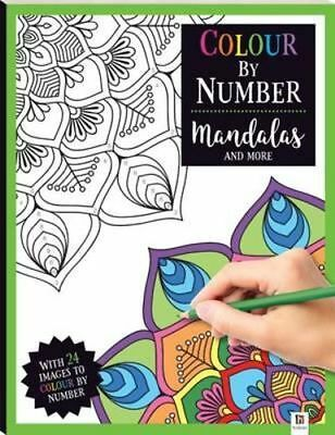 NEW Colour By Number  Mandalas Paperback Free Shipping