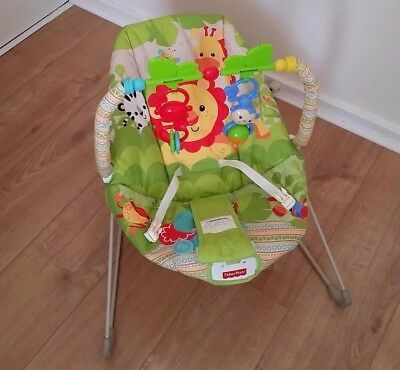 Fisher Price Rainforest Friends Baby Bouncer with vibration soother