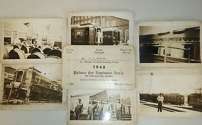 1948 Membership card ~ PULLMAN CAR EMPLOYEES ASS'N w/ 6 original photos