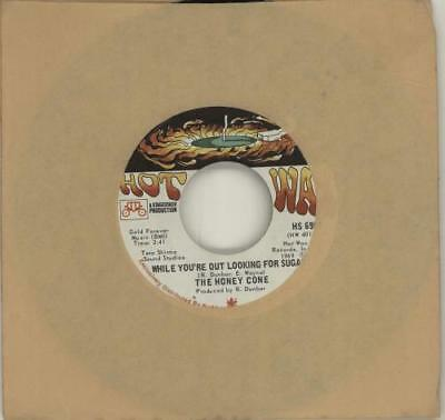 """Honey Cone 7"""" vinyl single record While You're Out Looking For Sugar ? USA"""
