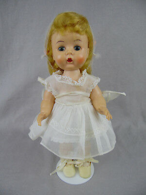 ARRANBEE 10.5in HARD PLASTIC LITTLEST ANGEL DOLL 1950's VGUC! w/EXTRA CLOTHES