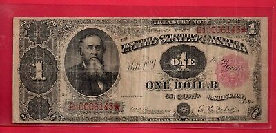 ***  1891 $1.00 Red Seal Treasury Note    *****