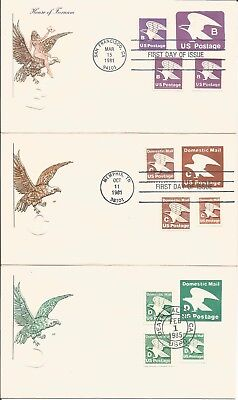 "3 House Of Farnam Combo Fdc's - ""b"", ""c"", & ""d"" Eagles"