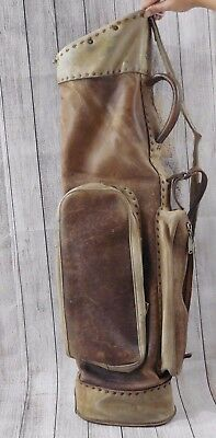 Antique Leather MACMONNIES GOLF BAG Portland Or Possibly 1800s Era