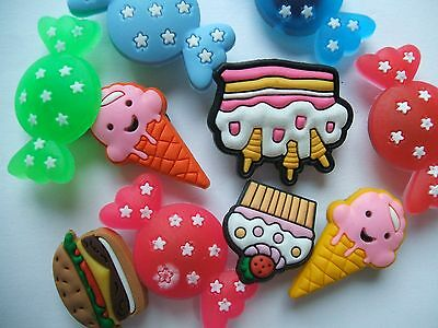 Shoe Charms (A2) - Food - Ice Cream - Burger - Sweets - Cakes