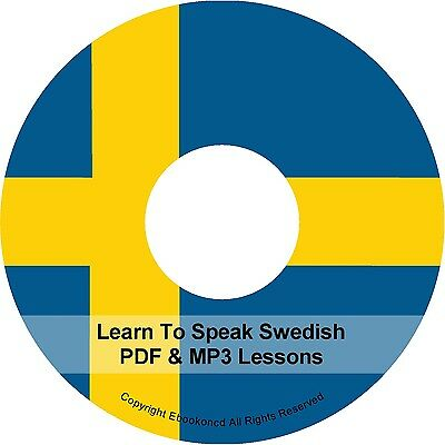 Learn To Speak Basic Swedish Language Audio MP3 +  E Book Lessons PDF's on CD