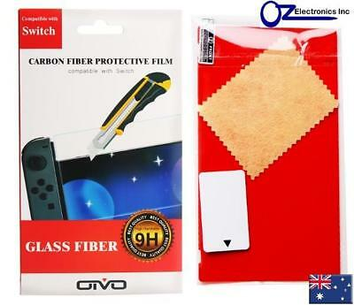 Nintendo Switch 9H LCD Carbon Fiber Protective Film Anti Scratch Australia NEW