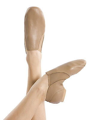 Energetiks Neoprene Slip On Jazz Boot Dance Shoes, Adults, Black & Tan
