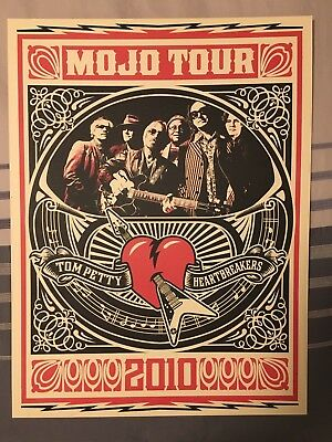 Tom Petty and the Heartbreakers 2010 Mojo Tour VIP Poster – Shepard Fairey