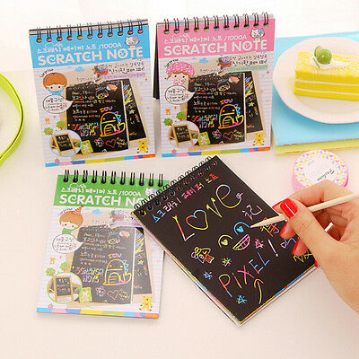 1x Sketchbook Diary for Drawing Painting Graffiti Cover Black Paper Sketch Book*