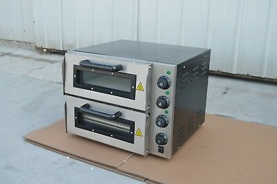 "Commercial 220V 16"" Double Electric Pizza Oven #170651"