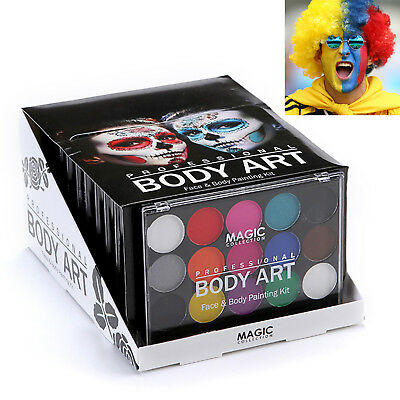 Magic Face & Body Art Painting Kit For Party Christmas Camouflage Wild Adventure