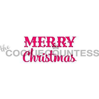 The Cookie Countess MERRY CHRISTMAS Stencil