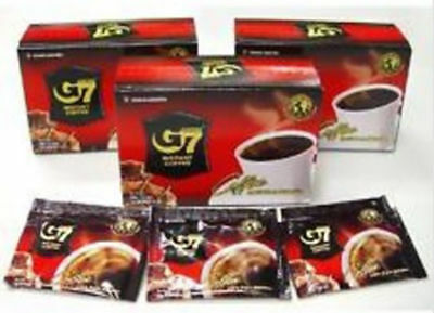 G7 Pure Black Instant Coffee 3 Packs(45sachets) Trung Nguyen Vietnamese Coffee