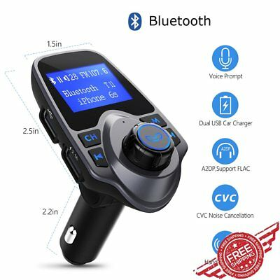 Bluetooth Car Kit MP3 Player FM Transmitter Wireless Radio AUX Adapter USB Port