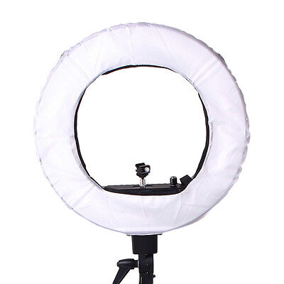 """18"""" Fluorescent Dimmable Ring Light w/Bag Portrait Video Light Photography White"""