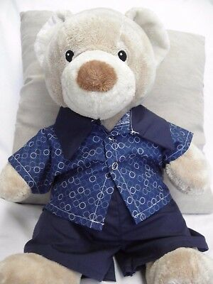 Clothes to fit Pumpkin Patch teddy boys Pyjamas suit 15 inch build a bear