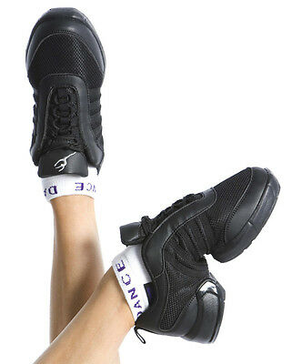 Energetiks Debut Jazz Sneaker, Black jazz dance sneakers in black