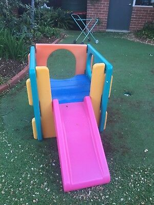 Little Tots Plastic Slide And Cubby