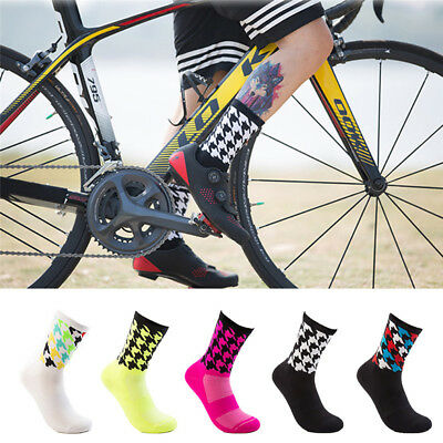 Men's Cycling Riding Bicycle Socks Breathbale Basketball Sport Socks