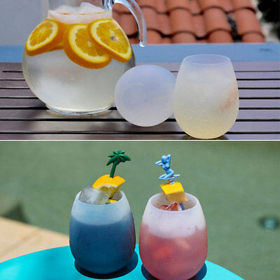 Unbreakable BBQ Silicone Cup Wine Glass Stemless Beer Whiskey Collapsible#
