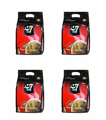 [G7] Pure Black Instant Coffee - (100 SACHETS x 4 bags) Vietnamese Coffee