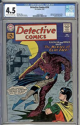 1961 Detective Comics 298 CGC 4.5 Origin and 1st app of the Silver Age Clayface