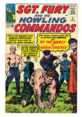Sgt Fury and his Howling Commandos #5 Marvel 1st Baron Strucker 5.0