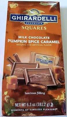NEW Ghirardelli Milk Chocolate Pumpkin Spice Caramel Squares Limited Edition