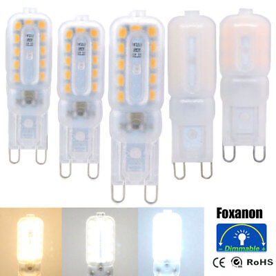Dimmable G9 3W 5W 7W LED Corn Bulb Light Silicone Crystal Halogen Lamp 110V 220V