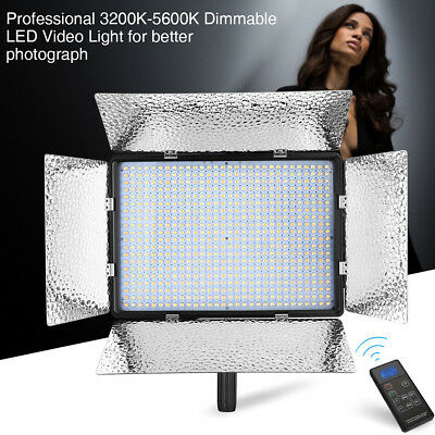 600 LED Bi-Color Dimmable Professional Photography Studio Video Light Panel Kit